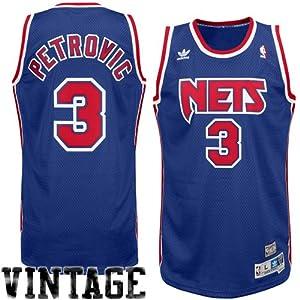 NBA adidas Drazen Petrovic New Jersey Nets Soul Swingman Throwback Jersey - Royal Blue (Small)