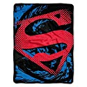 """Warner Brothers' Superman, Super Rip Shield Micro Raschel Throw by The Northwest Company, 46 by 60"""""""