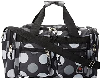 Rockland Luggage 19 Inch Tote Bag, Big Black Dot, One Size
