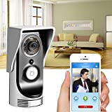 Home Wireless WiFi Remote Video Camera Door Phone Monitor Safe Smart Doorbell (Silver)