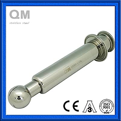 1 1/2 Inch Clamp Stainless Rotary Spray ball, SS304 Rolling Cleaning Ball, easy installation outside tank from top