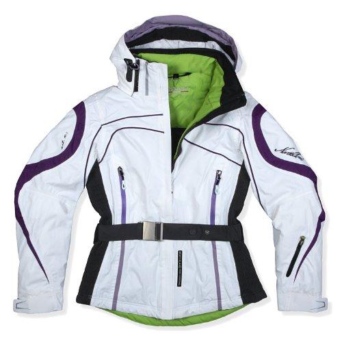 Damen Skijacke Northland Professional BONNIE BELT, weiß - lila, taillierter Schnitt, Gr. 42