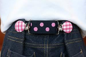 Smartie Pants Baby & Toddler Adjustable Cinch Belt (Navy/Pink Plaid/Paisley)
