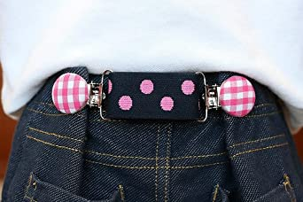Smartie Pants Baby & Toddler Adjustable Cinch Belt (Navy/Pink Plaid/Paisley)