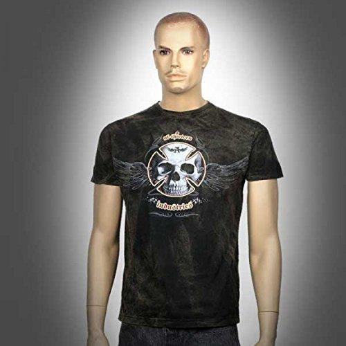T-Shirt originale con Alchemy England-UL13Industries, Skull, S-2x l, nero, XXL