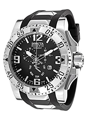 Invicta Men's 18202 Excursion Stainless Steel Watch With Black PU Band