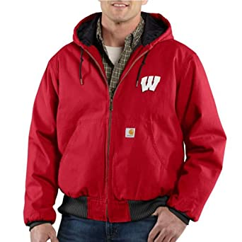 NCAA Wisconsin Badgers Mens Ripstop Active Jacket by Carhartt