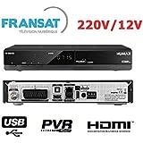 Humax FR1000HD Récepteur Fransat Connect HBBTV + Carte à vie Noir