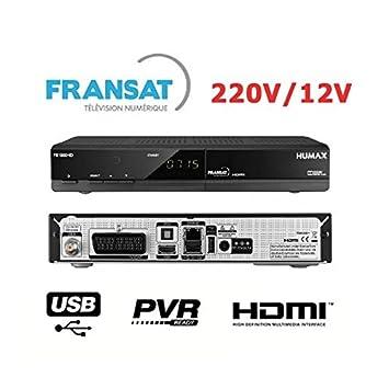 HUMAX FR1000 HD 12V 220V - Récepteur numérique satellite FRANSAT - Idéal camping - HDMI Peritel USB PVR...