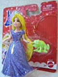 Disney Princess Little Kingdom RAPUNZEL & PASCAL mini doll set with MagiClip Fashion Dress by Mattel