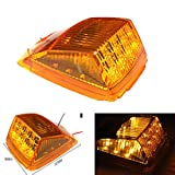 Keyecu 1 Pack Amber 17LED Roof Running Top Clearance Reflector Lights for Kenworth Peterbilt Freightliner Mack (1)