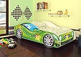 Autobett Kinderbett Bett Auto Car Junior in vier Farben mit Lattenrost und Matratze 70x140 cm Top Angebot!