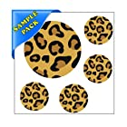 Sample Test Decals :: Leopard Print Polka Dot Circles - Reusable Wall Decal Sticker - [Easy Peel and Stick