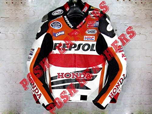 Motorbike/motorcycle Honda Repsol Leather Racing Jacket (Honda Repsol Jacket compare prices)
