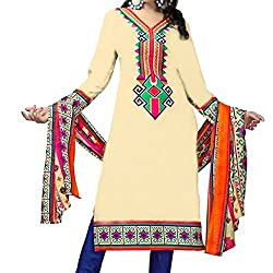 Shree Hari Creation Women's Poly Cotton Unstitched Dress Material (3849_Multi-Coloured_Free Size)