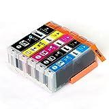 CANON / キヤノン キャノン 純正互換インクカートリッジ インクタンク BCI370XL (BK ブラック) + BCI371XL (BK ブラック / C シアン/ M マゼンダ/ Y イエロー) 5色マルチパック (大容量) 残量表示機能対応 ICチップ付 安心保証1年 eBARONGオリジナル PIXUS MG7730F, PIXUS MG7730, PIXUS MG6930, PIXUS MG5730
