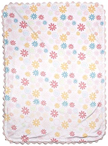 Kidsline Fanciful Floral Velour Rick-Rack Blanket - 1