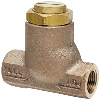 "Parker 032500319 3250 Series Brass Inline Flow Control Valve, 3/8"" NPTF, 250 psi, Standard Adjustment"