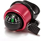Colourful Bell With Compass Metal Ring Handlebar Sound for Cycling Bike Bicycle