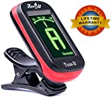 51MfBHdKBTL. SL160  Lifetime Warranty AxeRig Tuner EASIEST to use for Acoustic Guitar, Bass Guitar, Electric Guitar, Banjo, Mandolin, Dulcimer, Ukulele, Violin, Cello, Trumpet & other Brass, Saxophone, Flute & other Woodwind Instruments & more   Clip On Guitar Tuner with SPARE BATTERY & Lifetime Warranty