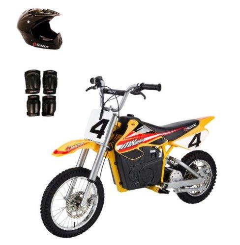 Razor Mx650 Dirt Rocket Electric Motorcycle Bike With Helmet, Elbow & Knee Pads