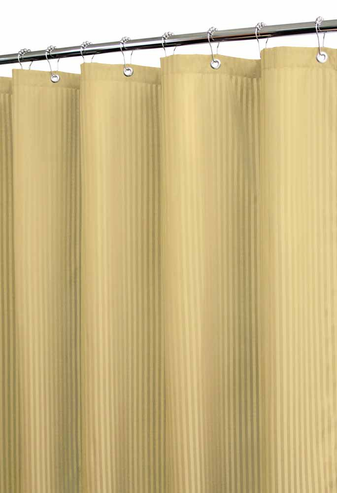 Park B. Smith Satin Stripe Watershed Shower Curtain, Sahara