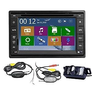 Car dvd player gps new win8 ui bluetooth rds radio 2 din car stereo - Amazon Com High Def Wireless Rear Camera 2015 New Model 6