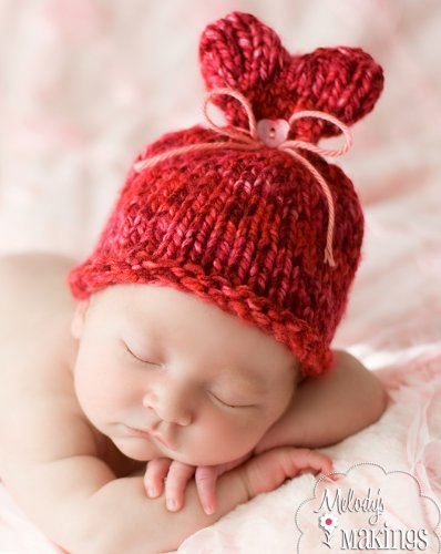 Little Sweet Heart Hat Knitting Pattern - 5 Sizes Included front-37014