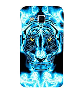 animated glowing tiger face 3D Hard Polycarbonate Designer Back Case Cover for Samsung Galaxy J3 :: Samsung Galaxy J3 J300F