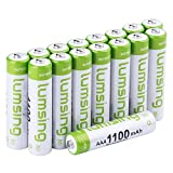 Lumsing AAA Rechargable Batteries16-Pack 1100mAh Ni-MH With Battery Storage Box