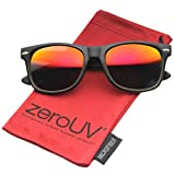 zeroUV ZV-8025-02 Wayfarer Sunglasses, Black, 58 mm
