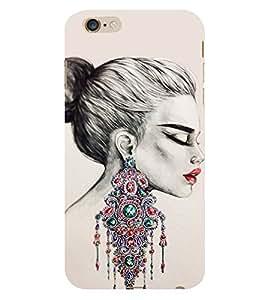 Amazing Girls Ear Rings 3D Hard Polycarbonate Designer Back Case Cover for Apple iPhone 6