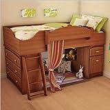 South Shore Imagine Kids Loft Bed 3 Piece Bedroom Set in Morgan Cherry Fini ....