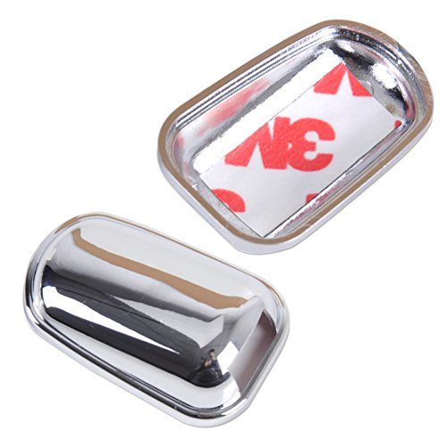 Chrome Windscreen Washer Cover Caps Spray Nozzle Decoration Sticker Protector (Pack of 2) (Chrome Windshield Wipers Cover compare prices)