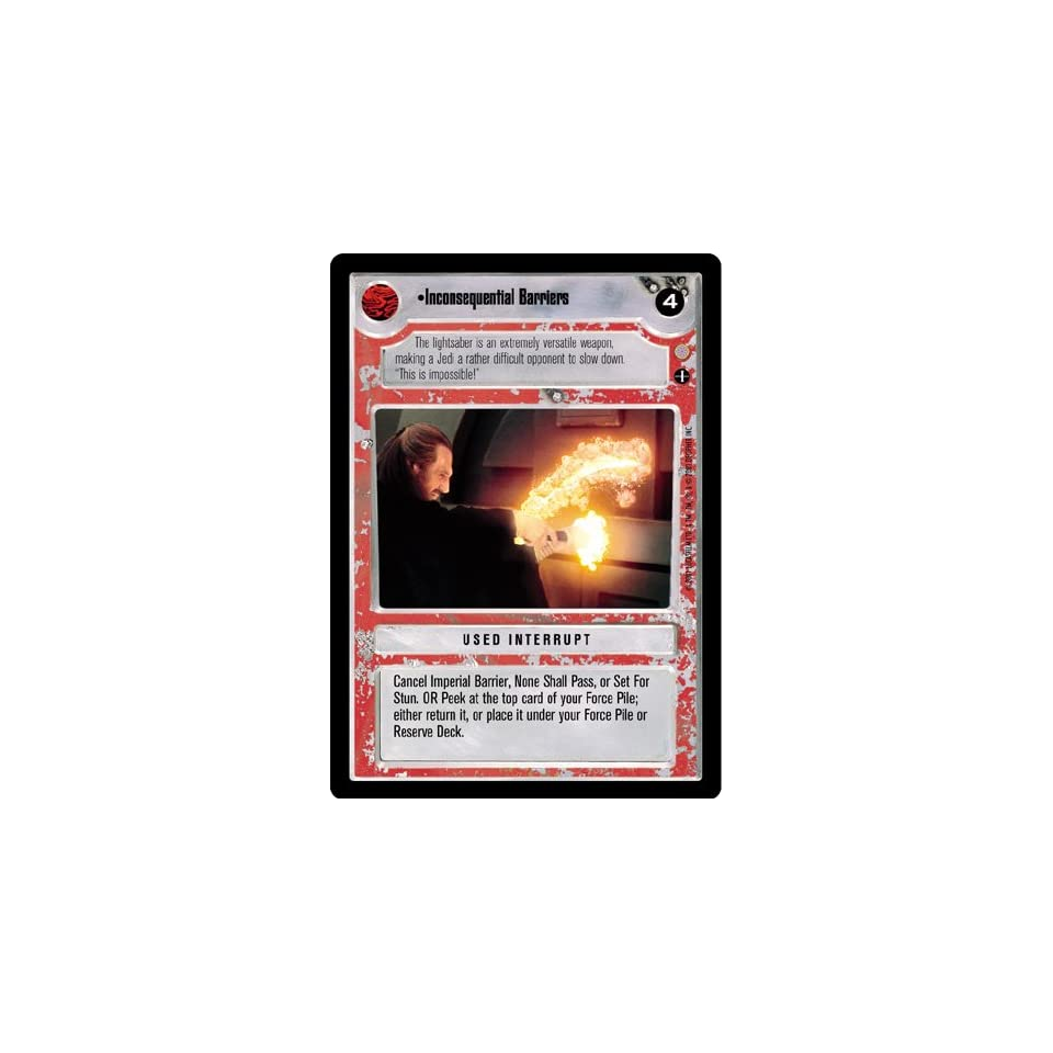 Star Wars CCG Coruscant Common Inconsequential Barriers