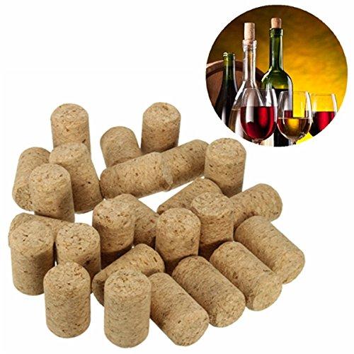 25pcs Unused Straight Round Wine Cork Stopper Plug Wine Bottle Cap