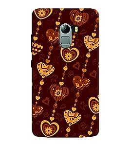 Chiraiyaa Designer Printed Premium Back Cover Case for Lenovo K4 Note (pattern heart boy girl friend valentine miss kiss stripe) (Multicolor)