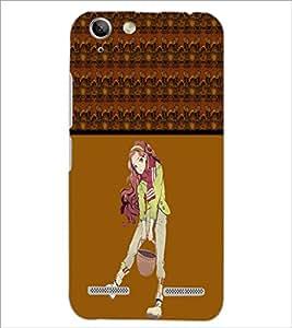 PrintDhaba Cute Girl D-4274 Back Case Cover for LENOVO VIBE K5 (Multi-Coloured)