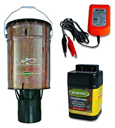 Moultrie 6 Gallon Automatic Pond Fish Feeder + 6V Rechargeable Battery + Charger