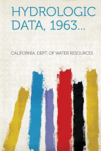 Hydrologic Data, 1963...