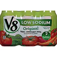 24-Pack V8 100% Vegetable Juice Original Low Sodium (11.5 Ounce)