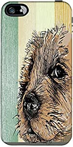 Snoogg Sketch Of A Dog Designer Case Cover For Apple Iphone 5C / 5C