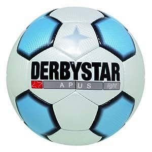 Derbystar Fussball Apus Light, Weiss/Blau/Schwarz, 5