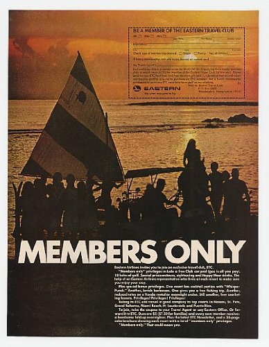 1967 Eastern Airlines Members Only Travel Club ETC Print Ad (18057)