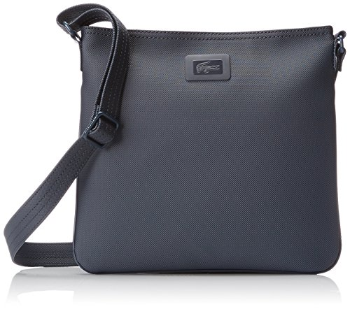 Lacoste Women's Classic Flat Crossover Cross Body Bag, Black Iris, One Size