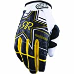 Answer Racing Rockstar MSN Collab Youth Boys Dirt Bike Motorcycle Gloves - Black / Small
