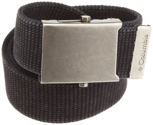 Columbia Men's 38mm Cotton Washed Webbing,Black,42