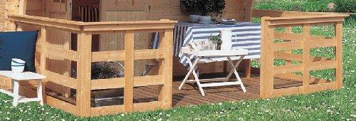 Karibu Terrasse für Wonnesund und Girion 180 cm