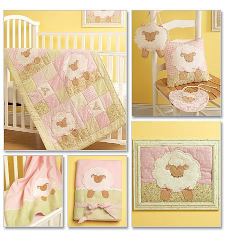 Mccall'S Patterns M5870 Quilt, Blanket, Pillow, Framed Lamb, Toy And Bib, One Size Only front-84724