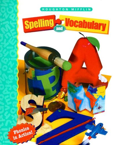 Houghton Mifflin Spelling: Softcover Student Edition Continous Stroke Level 1 1998